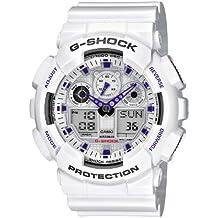 Casio G-Shock – Reloj Hombre Analógico/Digital con Correa de Resina – GA-100A-7AER