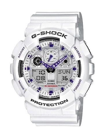 Casio G-Shock – Herren-Armbanduhr mit Analog/Digital-Display und Resin-Armband – GA-100A-7AER