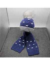 REIA Bebé niños cálido Bufanda de Punto Sombrero de Invierno Espesar Fleece Sombreros  para 939428ac9c7