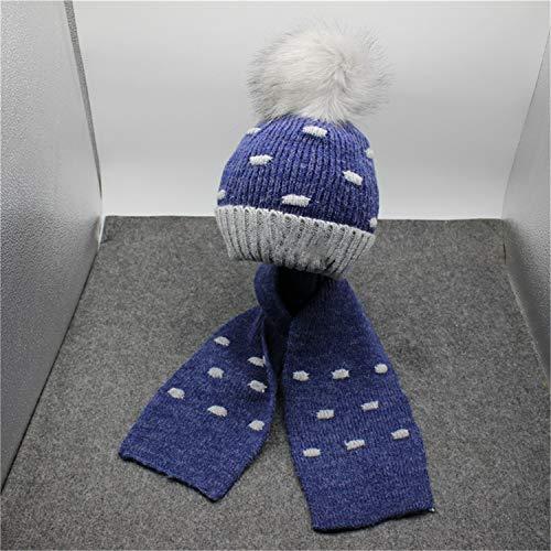 MS.REIA Baby Kinder warme gestrickte Schal Hut Winter verdicken Fleece-Hüte für Jungen Mädchen Multicolor Wahl Crazy Fleece Hüte