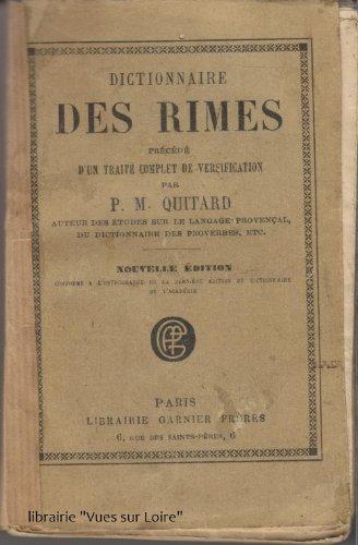 Dictionnaire des rimes par Pierre-Marie Quitard