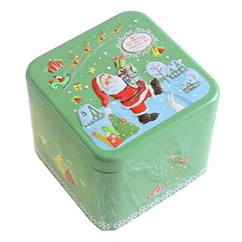 Entz?ckende 3D Entlastung Quadratische S??igkeit-Zinn-Pl?tzchen-Kasten-Geschenk-Kasten Tee-Speicher-Zinn-Kasten, # 11