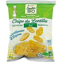 Jardin bio chips de lentilles pointe de sel sans Gluten sachet 50g - Livraison Gratuite pour les commandes en...