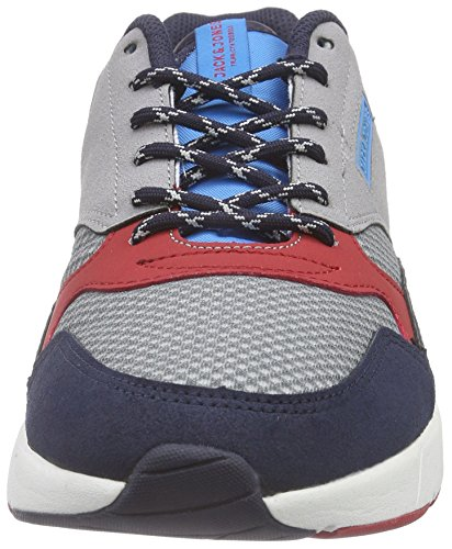 JACK & JONES Herren Jjbayard Mixed Sneaker Low-Top Grau (Frost Gray)