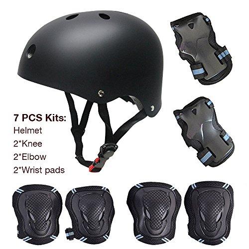 SKL Kinder Scooter Hoverboard BMX Fahrrad Helm, Handl-Knie, Ellenbogenschoner Pads und Gel Pads