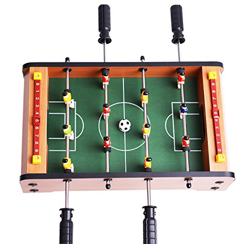 Mini Fußball & Mini Air Hockey & Mini Tabletop Pool Set Holztisch MDF Durable Spiel Viel Spaß Geburtstag Urlaub Geschenke (MINI FOOTBALL)