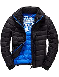 SUPERDRY Fuji Triple Zip Through, Abrigo Impermeable para Hombre