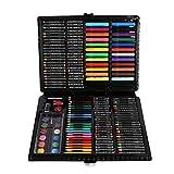 Set artistico, 168 pezzi di matite colorate con custodia per disegno/schizzi, kit di cancelleria, regalo per bambini