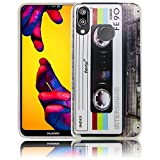 Huawei P20 Lite Kassette Retro Handy-Hülle Silikon - staubdicht, stoßfest &...