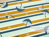 Mamasliebchen Jersey-Stoff Rainy Day Umbrella#Honey Mint