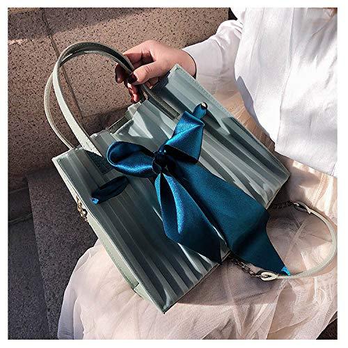 YZJLQML Weiblicher BeutelEinfache Handtaschen Umhängetasche Mode Umhängetasche Schmetterling Ergebnisse gefrorenes Paket, grün - Grün Gefrorenen Glas