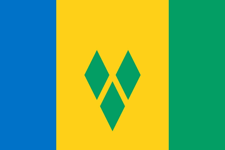 magFlags Bandiera Small Saint Vincent e Grenadine   bandiera paesaggio   0.7qm   70x100cm