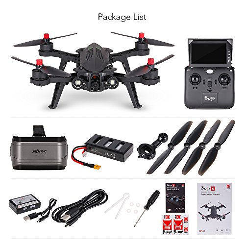 GEHOO GH MJX Bugs 6 B6FD+G3 Rennen RC Quadcopter Drone 250mm mit FPV HD 720P Kamera FPV VR Goggle 3D RTF Hubschrauber