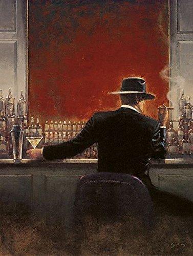 Keilrahmen-Bild - Brent Lynch: Cigar Bar 40 x 50 cm Leinwand