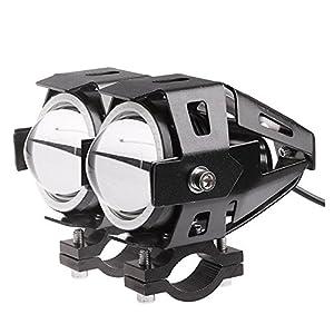 Lemonbest® 2 piezas de la motocicleta del coche LED de la linterna del CREE LED del punto U7 antiniebla delanteros de luz de lámpara DRL Spotlight Conducir Luces diurnas Blue Circle