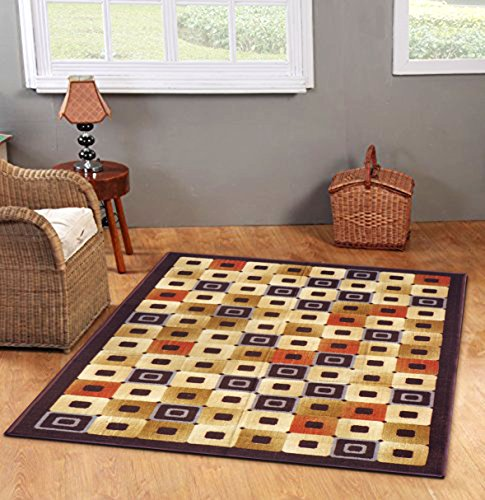 Status Taba Rug Multicolour With Anti Skid Backing