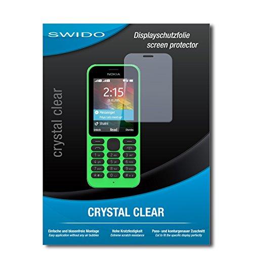 SWIDO Bildschirmschutz für Microsoft Nokia 215 [4 Stück] Kristall-Klar, Hoher Härtegrad, Schutz vor Öl, Staub & Kratzer/Schutzfolie, Bildschirmschutzfolie, Panzerglas Folie