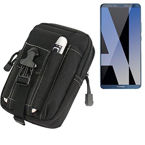 K-S-Trade Gürtel Tasche für Huawei Mate 10 Pro Dual SIM Gürteltasche Schutzhülle Handy Hülle Smartphone Outdoor Handyhülle schwarz Zusatzfächer