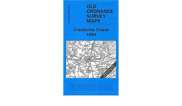 OLD ORDNANCE SURVEY MAP CRANBORNE CHASE 1894 FORDINGBRIDGE FARNHAM RINGWOOD