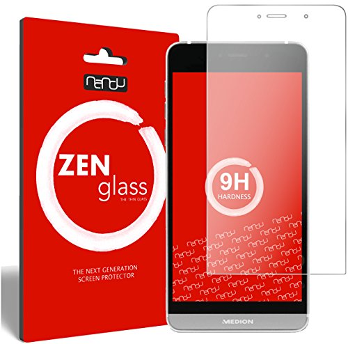 nandu I ZenGlass Flexible Glas-Folie für Medion Life X5004 Panzerfolie I Bildschirm-Schutzfolie 9H