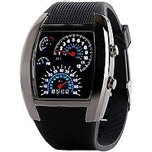 Tongshi Moda Aviación Turbo Dial flash LED Watch Regalo para hombre Señora Deportes metro del coche