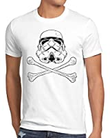 style3 Stormtrooper Crâne T-Shirt Homme chasseurs Imperiaux