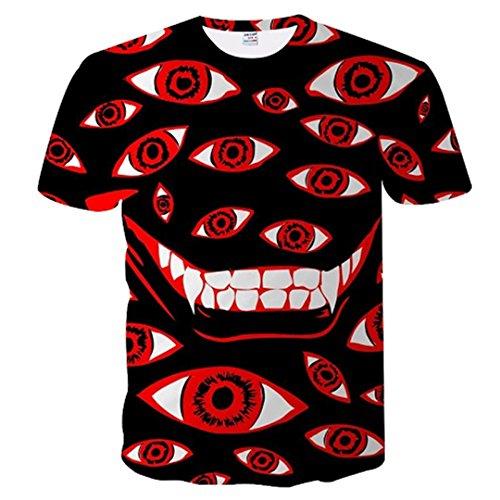 (Tshirt Männer und Frauen Drucken Zahn Lächeln 3D T-Shirt Plus M-5XL TXU-078 Asia 3XL)