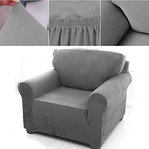 1 Sitzer Sofabezug Sesselbezug Sofahusse Sesselhusse Elastisch Verfügbar In Verschiedenen Größen Grau