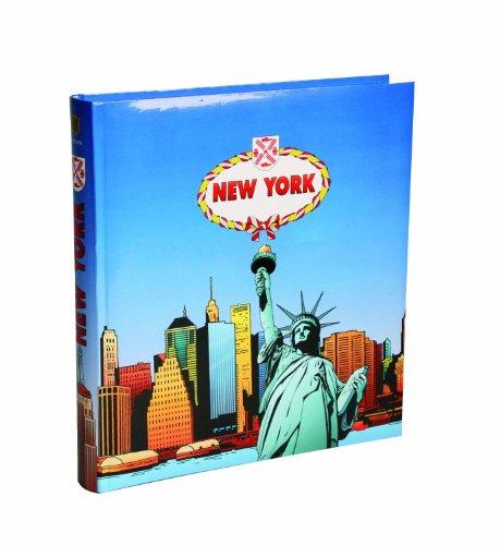 HENZO NEW YORK   ALBUM DE FOTOS CON DISEÑO DE NUEVA YORK  COLOR AZUL