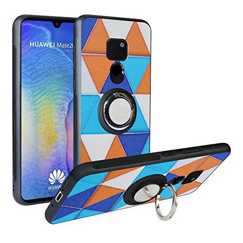 Alapmk Kompatibel mit Nokia X71 2019 Hülle, Pattern Design [Kratzfest] TPU Schutzhülle Hülle mit Metallfingerringständer [Magnetic Car Mount], Stoßfest Handyhülle Cover für Nokia 6.2,Triangle