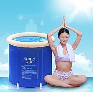 Pliage baignoire bain baril baignoire adulte bain gonflable, plus épais baignoire de seau en plastique. ( taille : M )