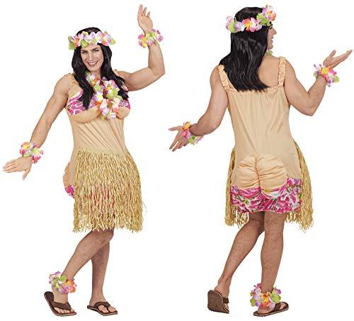 Armbänder Knöchel Kostüm - Party-Teufel Komplett Kostüm Hawaii Männer inkl. Hawaiirock Perücke Hawaiikette Blumenhaarkranz Armbänder Knöchel Blumenschmuck Herren Fatsuit Junggesellenabschied