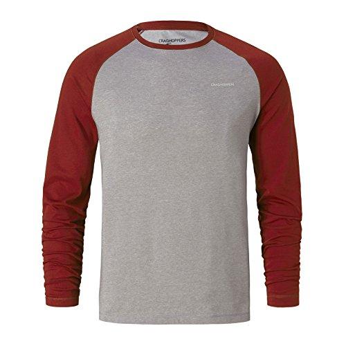 Craghoppers NosiLife Bayame Langarm Shirt Men - Longsleeve Red Earth