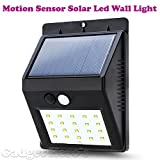 Gadget Hero's™ Motion Sensor Solar Powered LED Garden Light. Waterproof Weatherproof Outdoor Lamp. Equipped with 20 LED light.