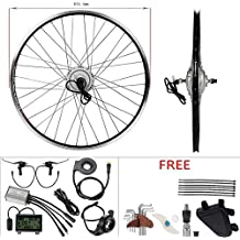 36V 250W 28 Inch Hub Motor with Front Wheel Silver Conversion Kit for Electric Bicycle with LCD Display