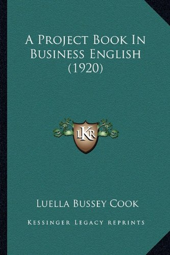 A Project Book in Business English (1920)