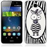 Funda Huawei Enjoy 5, Funda Huawei Y6 Pro - Fubaoda - 3D Realzar, Linda Patrón, Gel de Silicona TPU, Fina, Flexible, Resistente a los arañazos en su parte trasera, Amortigua los golpes, funda protectora anti-golpes para Huawei Enjoy 5 / Y6 Pro