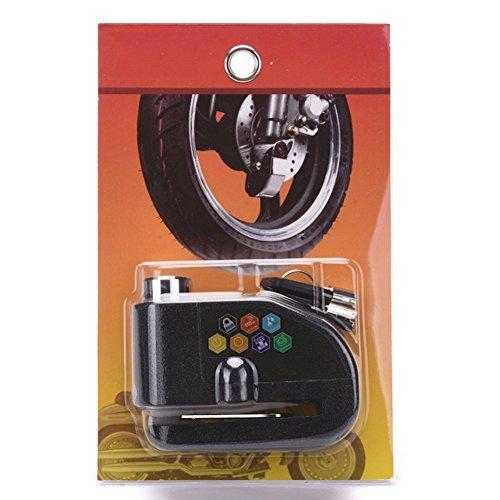 UxradG Bremse, Lock, Diebstahlschutz Motorrad Alarm Disc Lock 110dB Alarm Sound und Schlüssel Bike Scooter Bremsscheibe Lock Security Bremse für Tretroller - Motorrad-disc Lock Alarm