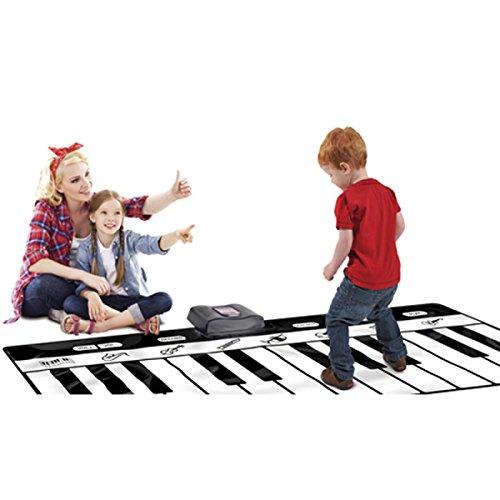 Preisvergleich Produktbild MEI Dance Decke Kinderfüße Auf Der Klavierdecke Walking Blanket Musik Tanzdecke Crawl Mat Geburtstagsgeschenk Familienspiel Mit Sound-Decke Produkt-Größe: 70.9in * 27.2in