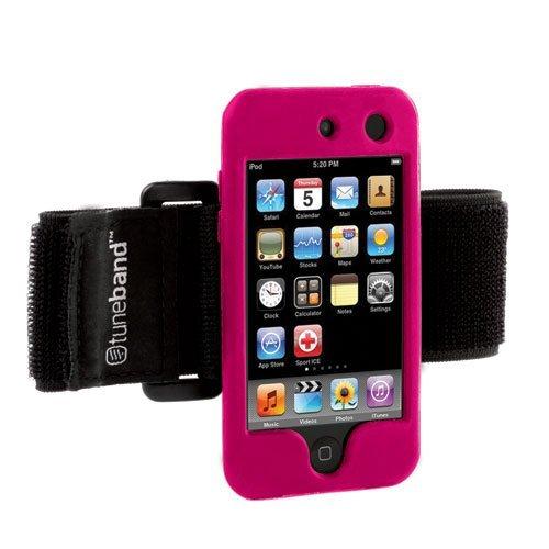 Grantwood Technology Tuneband für iPod Touch 4. Generation (Modell A1367, 8GB/16GB/32GB/64GB), mit Armband, Silikon Haut, und der Technologie Displayschutzfolie 16 Gb Ipod Touch
