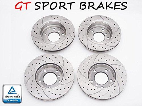 Preisvergleich Produktbild v-maxzone gt0931 + gt0932 4 x Bremsscheiben Sport GT (vorne und hinten)