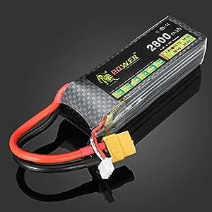 Lion Puissance 11.1V 2800mAh 30C MAX 45C Lipo batterie Branchez XT60