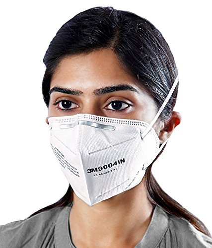 (PACK-10) 3M 9004 IN Foldable Dust/ Pollution Particulate Respirator Mask, White