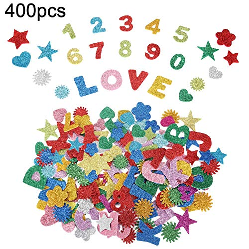 Alrededor 400 piezas 10 sets Pegatinas Espuma Letras