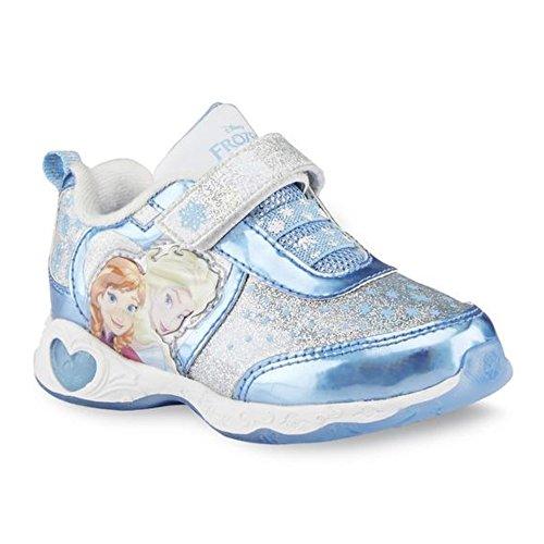 Disney Frozen Anna & Elsa Eisprinzessin Kinder Mädchen Schuhe Blink Licht Turnschuhe (EU 25 = US (Disney Elsa Frozen Schuhe)