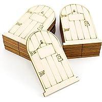 Preisvergleich für 25 stücke DIY Elf Holz Handwerk Holztür Gravur Holz Chip Holz Handwerk Fee Tür Unlackiert