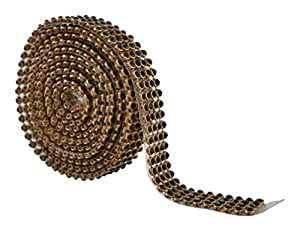 Stone lace Gold and Green 4-line full length 1.25 meters for bangles/jewellery decoration
