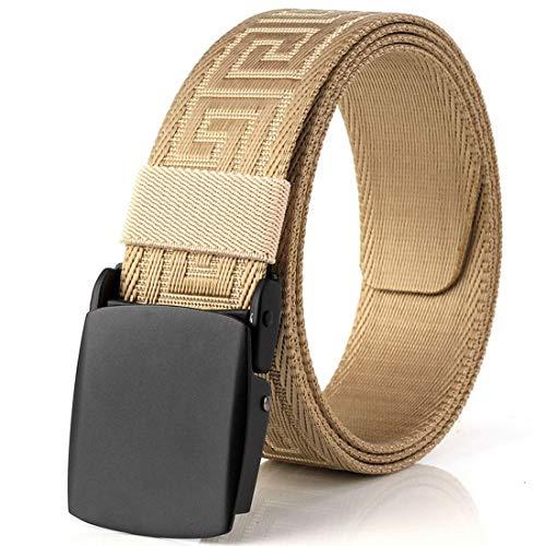 Shiduoli Atmungsaktives Gurtband aus Nylon mit Aluminiumschnalle (Color : Khaki) -
