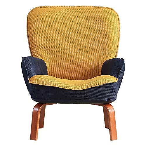 NgMik Lazy Sofa Kindersofa Polstersessel Couchsofa Kinderpolstersessel Kleinkinderstuhl - Wohnzimmermöbel (Farbe : Gelb, Größe : 45 * 54 * 71cm)