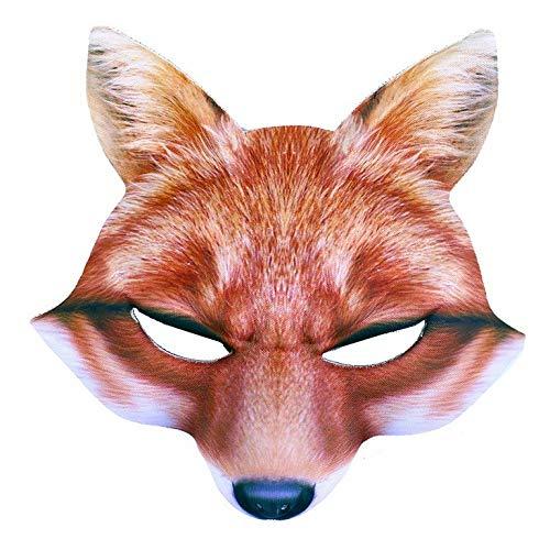 Rappa Tolle, lebensechte 3D Tiermaske Maske Fuchs für Kinder ab 3 Jahren (Kostüm D'animaux)